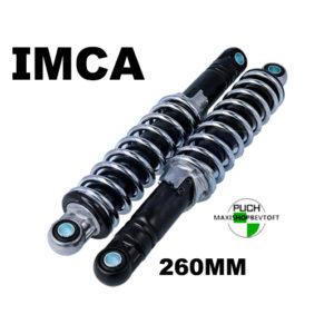 260 mm IMCA Støddæmpere sort ben med krom fjeder
