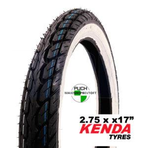 Kenda whitewall dæk 2.75 x 17