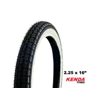Kenda whitewall dæk 225 x 16