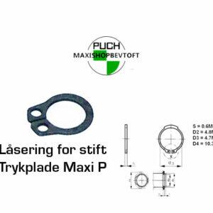 Låsering for stift på trykplade Maxi pedal
