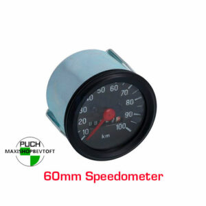 Speedometer 60mm med sort urskive