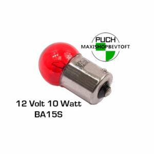 Rød Pære til stor baglygte 12 volt 10 watt