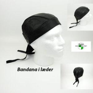 Bandana i læder one size