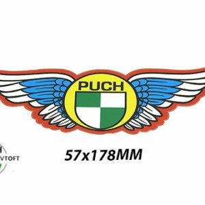 Klistermærke 57x178mm PUCH med vinge