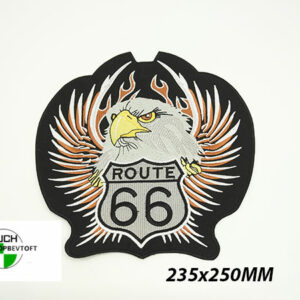 STORT Stofmærke 235x250mm ROUTE 66 EAGLE