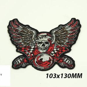 Stofmærke 103x130mm RACE DEVIL