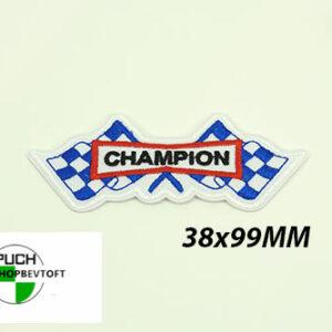Stofmærke 38x99 CHAMPION i den bedste kvalitet med klæber