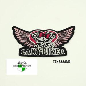 Stofmærke 75x135mm LADY BIKER