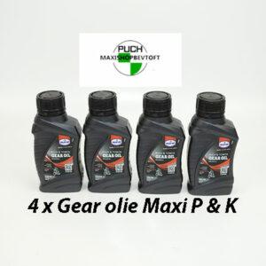 4 x gear olie til PUCH Maxi p og k