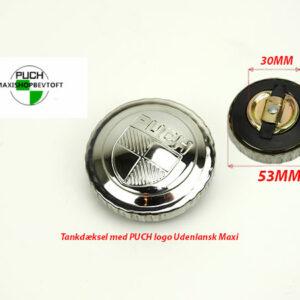 Tankdæksel med PUCH Logo KROM til udenlandsk PUCH Maxi