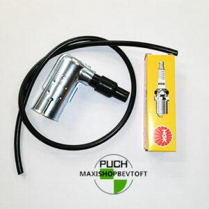 Sæt med tændrør, tændkabel og tændrørshætte til din PUCH Maxi